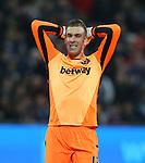 West Ham's Adrian looks on dejected after a missed chance during the Premier League match at the London Stadium, London. Picture date: May 5th, 2017. Pic credit should read: David Klein/Sportimage