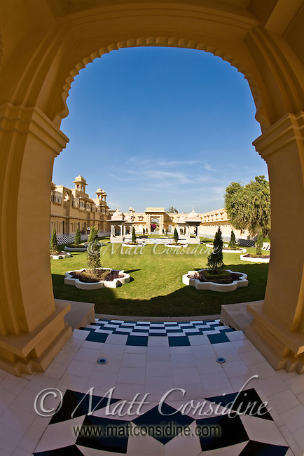 Arch at the Oberoi Udaivilas, Udaipur, India. (Photo by Matt Considine - Images of Asia Collection)
