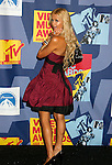 LOS ANGELES, CA. - September 07: TV personality Paris Hilton poses in the press room at the 2008 MTV Video Music Awards at Paramount Pictures Studios on September 7, 2008 in Los Angeles, California.