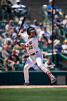 Rochester Red Wings Zander Wiel (12) bats during an International League game against the Scranton/Wilkes-Barre RailRiders on June 25, 2019 at Frontier Field in Rochester, New York.  Rochester defeated Scranton 10-9.  (Mike Janes/Four Seam Images)