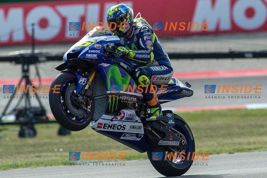 Lg Misano Adriatico (San Marino) - gara Moto GP / foto Luca Gambuti/Image Sport/Insidefoto<br /> nella foto: Valentino Rossi