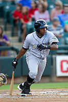 Omaha Storm Chasers designated hitter Tony Abreu #6 at bat during the Pacific Coast League baseball game against the Round Rock Express on July 22, 2012 at the Dell Diamond in Round Rock, Texas. The Express defeated the Chasers 8-7 in 11 innings. (Andrew Woolley/Four Seam Images).