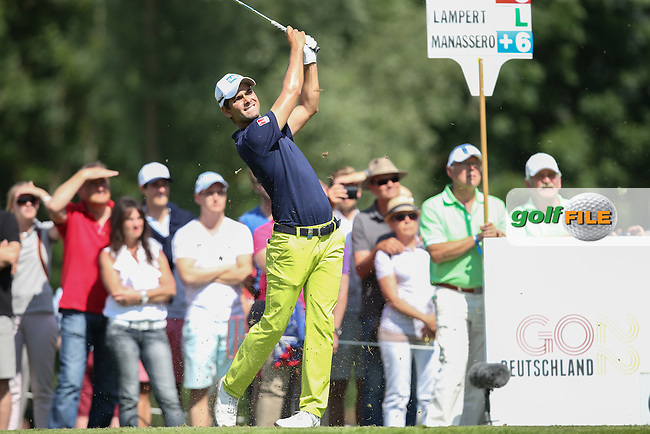 Moritz Lampert (GER) plays to the 12th during Round Two of the 2015 BMW International Open at Golfclub Munchen Eichenried, Eichenried, Munich, Germany. 26/06/2015. Picture David Lloyd | www.golffile.ie
