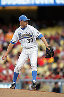 February 28 2010: Erik Goeddel of UCLA during game against USC at Dodger Stadium in Los Angeles,CA.  Photo by Larry Goren/Four Seam Images