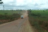 Pará State, Brazil. Altamira; the dusty road to Vitoria do Xingu.