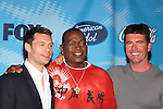 Ryan Seacrest, Randy Jackson and Simon Cowell