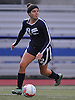 Alexandra Salamone #12 of Rocky Point gets ready to pass during the first of two varsity girls soccer all-star games pitting the Nassau County seniors against their Suffolk counterparts at Bethpage High School on Friday, Nov. 25, 2016. She posted a shutout and was named team MVP in Nassau's 1-0 win.