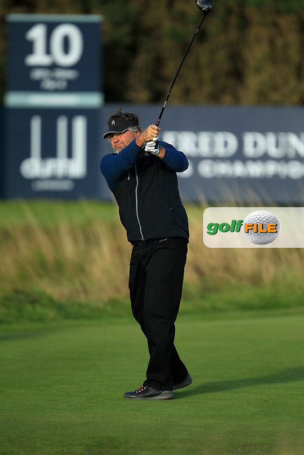 Charlie Van Dyk during Round 1of the Alfred Dunhill Links Championship at Kingsbarns Golf Club on Thursday 26th September 2013.<br />