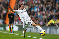 27.01.2013 SPAIN -  La Liga 12/13 Matchday 21th  match played between Real Madrid CF vs Getafe C.F. (4-0) at Santiago Bernabeu stadium. The picture show Fabio Alexandre Coentrao (Potuguese defender of  Real Madrid)