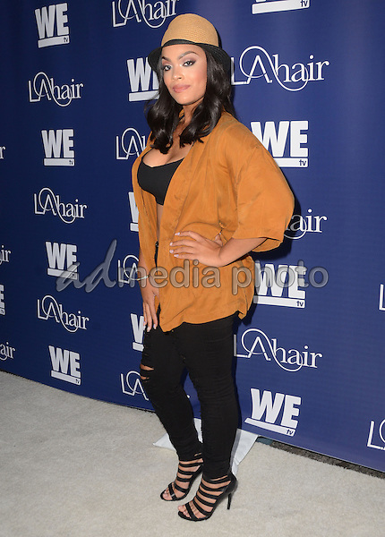 "14 July 2015 - Hollywood, California - Mehgan James. Arrivals for WE Tv's ""L.A. Hair"" premiere party held at Avalon Hollywood. Photo Credit: Birdie Thompson/AdMedia"