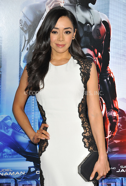 WWW.ACEPIXS.COM<br /> <br /> February 10 2014, New York City<br /> <br /> Actress Aimee Garcia arriving at the Los Angeles premiere of 'Robocop' at TCL Chinese Theatre on February 10, 2014 in Hollywood, California<br /> <br /> By Line: Peter West/ACE Pictures<br /> <br /> <br /> ACE Pictures, Inc.<br /> tel: 646 769 0430<br /> Email: info@acepixs.com<br /> www.acepixs.com
