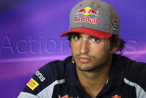 01.09.2016. Monza, Italy. Formula 1 Grand prix of Italy, driver arrival and press conference day.  Scuderia Toro Rosso – Carlos Sainz