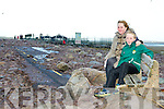 Valarie and Sean Ahern Cromane take in the devastation at Rossbeigh beach on Monday