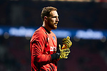 Jan Oblak of Atletico de Madrid during La Liga match between Atletico de Madrid and Granada CF at Wanda Metropolitano Stadium in Madrid, Spain. February 08, 2020. (ALTERPHOTOS/A. Perez Meca)