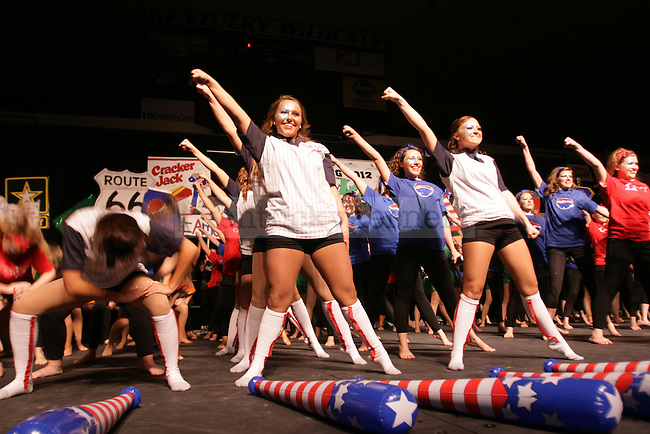 """Kappa Delta performs """"America"""" during Greek Sing on February 11th, 2012. Photo By Kirsten Holliday