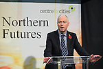 © Joel Goodman - 07973 332324 . NO SYNDICATION PERMITTED . 06/11/2014 . Leeds , UK . DAVE NEWTON Transport for Greater Manchester 's Transport Strategy Director , addresses the Northern Futures Summit in Leeds .  Photo credit : Joel Goodman
