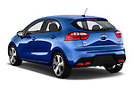 Car pictures of rear three quarter view of 2015 KIA Rio AT SX 5 Door Hatchback 2WD Angular Rear