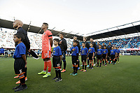 SAN JOSE, CA - AUGUST 03: San Jose Earthquakes   prior to a Major League Soccer (MLS) match between the San Jose Earthquakes and the Columbus Crew on August 03, 2019 at Avaya Stadium in San Jose, California.