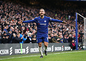 2nd February 2019, Stamford Bridge, London, England; EPL Premier League football, Chelsea versus Huddersfield Town; Eden Hazard of Chelsea celebrates after scoring his sides 2nd goal in the 66th minute to make it 2-0