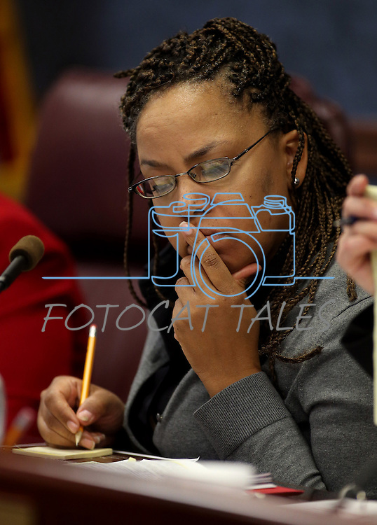 Nevada Assemblywoman Dina Neal, D-North Las Vegas, works in committee at the Legislative Building in Carson City, Nev. on Tuesday, Feb. 5, 2013. .Photo by Cathleen Allison