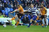 Tom Eaves of Hull City has a shot on goal during Reading vs Hull City, Sky Bet EFL Championship Football at the Madejski Stadium on 8th February 2020