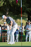 Bernd Wiesberger (AUT) putt on the 16th hole during second round at the Omega European Masters, Golf Club Crans-sur-Sierre, Crans-Montana, Valais, Switzerland. 30/08/19.<br /> Picture Stefano DiMaria / Golffile.ie<br /> <br /> All photo usage must carry mandatory copyright credit (© Golffile | Stefano DiMaria)