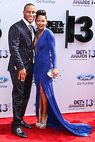 LOS ANGELES, CA - JUNE 30: DeVon Franklin and Meagan Good attend the 2013 BET Awards at Nokia Theatre L.A. Live on June 30, 2013 in Los Angeles, California. (Photo by Celebrity Monitor)