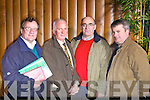 Delegates at the County Board Meeting on Monday night, from left: Colm Kirwan (Desmonds), Pat McAuliffe (Coiste Tra Lí), Sean McCarthy (Desmonds), Martin Murphy (Desmonds).