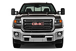 Car photography straight front view of a 2018 GMC Sierra 2500HD 2WD Crew Cab Standard Box SLT 4 Door Pick Up