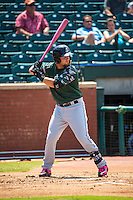 D.J. Peterson (33) of the Jackson Generals bats during a game between the Jackson Generals and Chattanooga Lookouts at AT&T Field on May 10, 2015 in Chattanooga, Tennessee. (Brace Hemmelgarn/Four Seam Images)