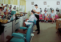 Pan American Motel, Wildwood, NJ.  Ladies in the Beauty Parlor. 1960's. -   09