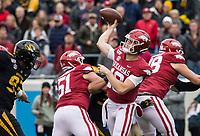 Hawgs Illustrated/BEN GOFF <br /> Jack Lindsey, Arkansas quarterback, throws the ball in the first quarter vs Missouri Saturday, Nov. 29, 2019, at War Memorial Stadium in Little Rock.