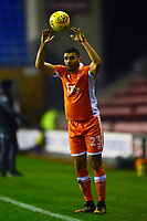 Blackpool's Colin Daniel takes a throw in<br /> <br /> Photographer Richard Martin-Roberts/CameraSport<br /> <br /> The EFL Sky Bet League One - Wigan Athletic v Blackpool - Tuesday 13th February 2018 - DW Stadium - Wigan<br /> <br /> World Copyright &not;&copy; 2018 CameraSport. All rights reserved. 43 Linden Ave. Countesthorpe. Leicester. England. LE8 5PG - Tel: +44 (0) 116 277 4147 - admin@camerasport.com - www.camerasport.com
