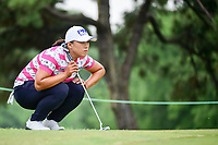 Amy Yang (KOR) lines up her putt on 2 during round 3 of  the Volunteers of America Texas Shootout Presented by JTBC, at the Las Colinas Country Club in Irving, Texas, USA. 4/29/2017.<br /> Picture: Golffile | Ken Murray<br /> <br /> <br /> All photo usage must carry mandatory copyright credit (&copy; Golffile | Ken Murray)