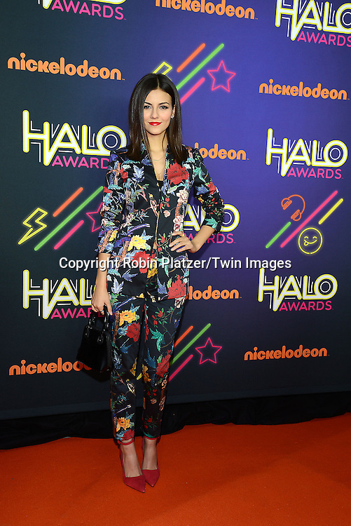 Victoria Justice attends the 6th Annual Nickelodeon Halo Awards on November 15, 2014 at Pier 36 in New York City. <br /> <br /> photo by Robin Platzer/Twin Images<br />  <br /> phone number 212-935-0770