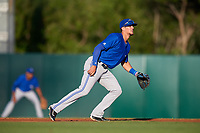 Dunedin Blue Jays second baseman Cavan Biggio (4) during a game against the Florida Fire Frogs on April 10, 2017 at Osceola County Stadium in Kissimmee, Florida.  Florida defeated Dunedin 4-0.  (Mike Janes/Four Seam Images)