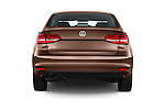 Straight rear view of 2017 Volkswagen Jetta S 4 Door Sedan Rear View  stock images