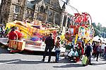 © Joel Goodman - 07973 332324 . 31 August 2013 . Rochdale , UK . People enjoy the funfair outside the Town Hall . The Rochdale Feel Good Festival . Photo credit : Joel Goodman