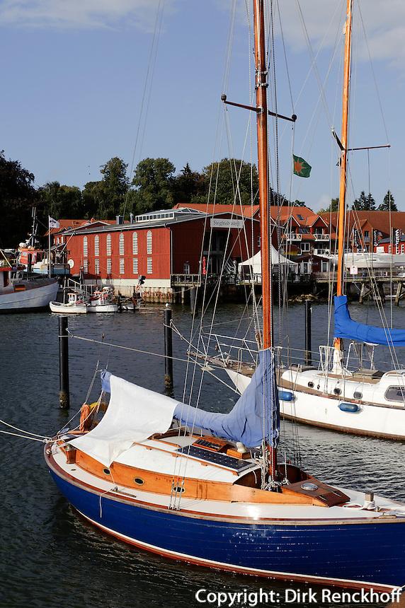 Hafen in Eckernförde, Schleswig-Holstein, Deutschland