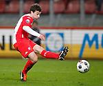 Nederland, Utrecht, 30 maart 2012.Eredivisie .Seizoen 2011-2012.FC Utrecht-Excelsior .Thomas  (Tommy) Oar van FC Utrecht maakt het winnende doelpunt