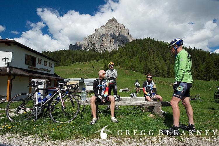 A Thomson Bike Tours Giro d'Italia trip--Summit of 1600 meter Passo Duran.