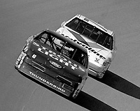 Mark Martin 6 Morgan Shepherd 75 action Winston 500 at Talladega Superspeedway in Talladega , AL in May 1989.  (Photo by Brian Cleary/www.bcpix.com)
