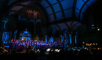 The DePaul Community Chorus and student musicians from the School of Music fill the Saint Vincent de Paul Parish Church with music and song during the annual Christmas at DePaul performance, Friday, Dec. 8, 2017, in Lincoln Park. Christmas at DePaul is the retelling of the birth of Christ in word and song. The event is offered as a gift to the community and guests are asked to donate either money or food items to support the St. Vincent de Paul Parish Food Pantry. Each year a student is selected from The Theatre School to narrate the sacred story as selections of classical holiday music celebrating the birth of Christ are performed by the DePaul Community Chorus and student musicians from the School of Music. (DePaul University/Jamie Moncrief)