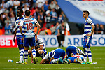 Reading players look dejected during the SkyBet Championship Play Off Final match at the Wembley Stadium, England. Picture date: May 29th, 2017.Picture credit should read: Matt McNulty/Sportimage