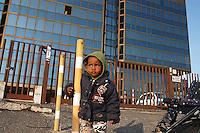 Roma 28 Febbraio 2006.I rifugiati africani nel palazzo in Via Cavaglieri dopo essere stati sgomberati. Edificio alla Romanina occupato da rifugiati provenienti dall'Eritrea, Etipia, Sudan, e Somalia.<br /> <br /> Rome, <br /> Salaam Palace the abandoned university building on the outskirts of Rome occupied by refugees arrivals from Africa.