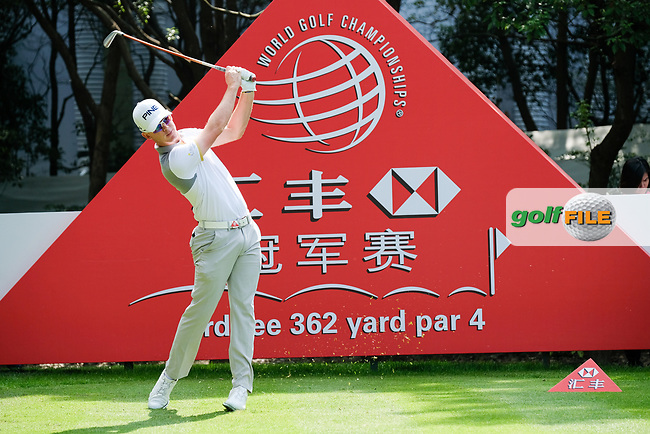 Brandon Stone (RSA) on the 3rd during round 1 of the 2017 WGC HSBC Champions, Sheshan International Golf Club, Shanghai, China PR. 26/10/2017<br /> Picture: Golffile | Fran Caffrey<br /> <br /> <br /> All photo usage must carry mandatory copyright credit (&copy; Golffile | Fran Caffrey)