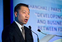 China Securities Regulatory Commission Vice-Chairman Yao Gang speaks at Shanghai / Paris Europlace Financial Forum, in Shanghai, China, on December 1, 2010. Photo by Lucas Schifres/Pictobank