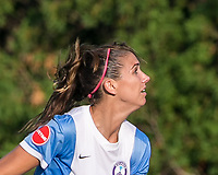Boston, MA - Saturday August 19, 2017: Alex Morgan during a regular season National Women's Soccer League (NWSL) match between the Boston Breakers (blue) and the Orlando Pride (white/light blue) at Jordan Field. Orlando Pride defeated Boston Breakers, 2-1.
