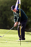 Sean Breen from Seapoint chipping into the green at the National Pitch and Putt Championships, regional qualifer at MacBride club..Picture: Paul Mohan/Newsfile