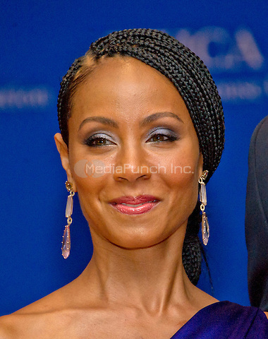 Actress Jada Pinkett Smith arrives for the 2016 White House Correspondents Association Annual Dinner at the Washington Hilton Hotel on Saturday, April 30, 2016.<br /> Credit: Ron Sachs / CNP<br /> (RESTRICTION: NO New York or New Jersey Newspapers or newspapers within a 75 mile radius of New York City)/MediaPunch